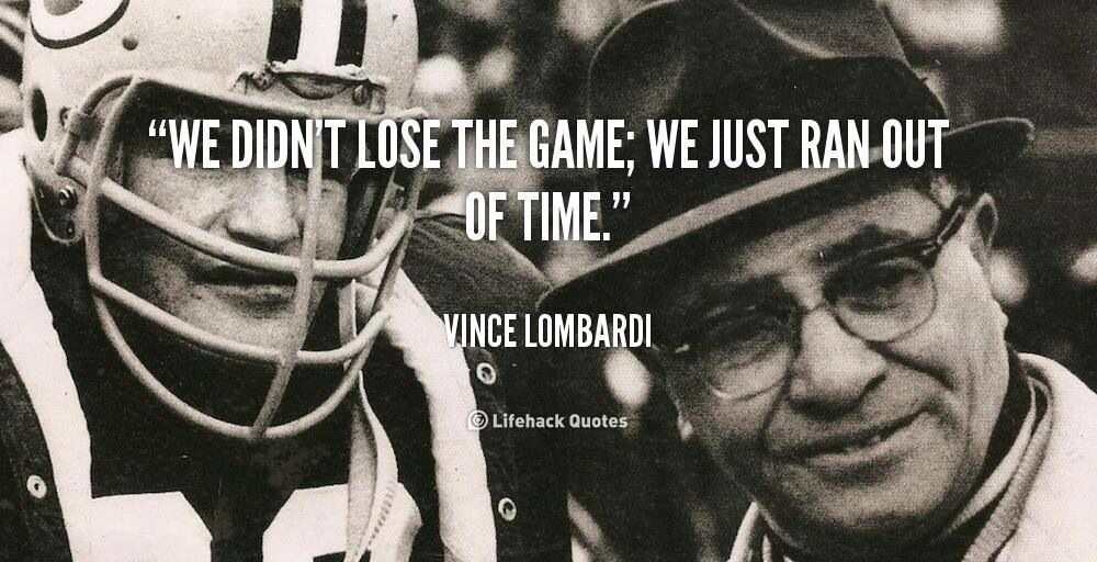 Good 'ol Vince Inspirational sports quotes, Lombardi