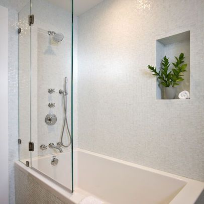 Image Result For Glass Instead Of Shower Curtain