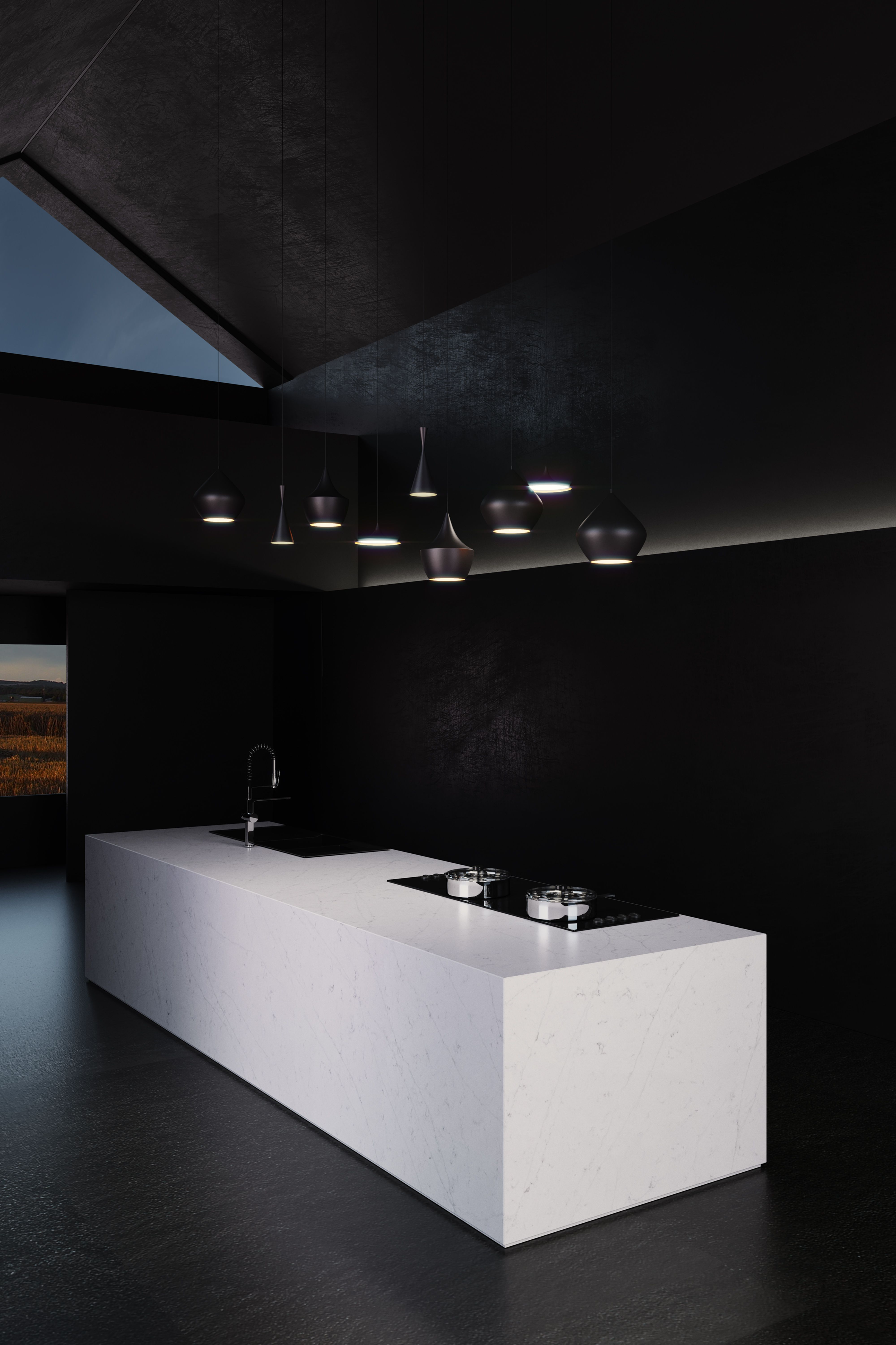 It is amazing how Silestone Eternal Statuario fills with light the ...