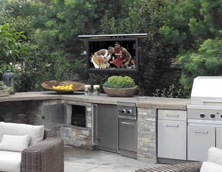 Outdoor Tv Lift Unique Tv Lifts For Outdoor Spaces Nexus 21 Outdoor Tv Outdoor Kitchen Outdoor Sound System