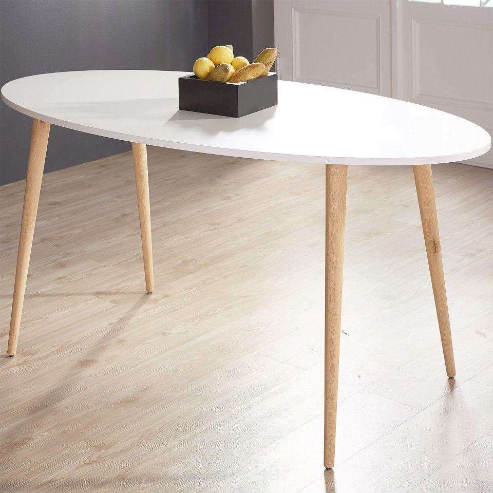 Esstisch Oslo (80x160, weiß, oval) Esstisch, Esstisch