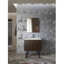 """Jute 30"""" Vanity with Furniture Legs, 1 Door and 1 Drawer On Right"""