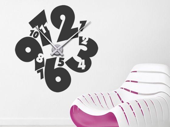 Uhr Verdrehte Zeit Wanduhr Clocks Pinterest Wandtattoo Uhr
