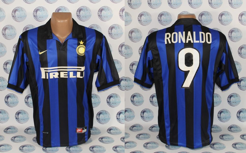 7142a7aba INTER MILAN 1998 1999  9 RONALDO HOME FOOTBALL SOCCER SHIRT JERSEY MAGLIA L   Nike  InterMilan