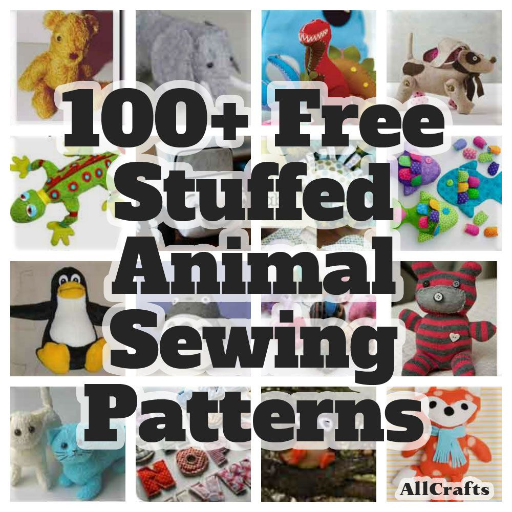PStitch A Fun Softie For Little One With Our Collection Of 100 Free Stuffed Animal Sewing Patterns Animals Fish Letters And More
