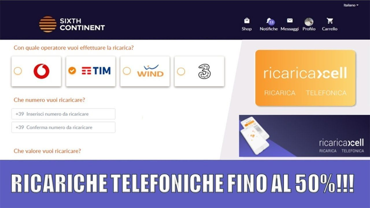 online store ea124 0e78e Ricariche Telefoniche Tim, Wind, Tre e Vodafone fino a metà ...