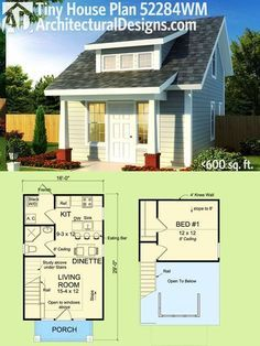 Plan 52284wm Tiny Cottage Or Guest Quarters Micro Nano