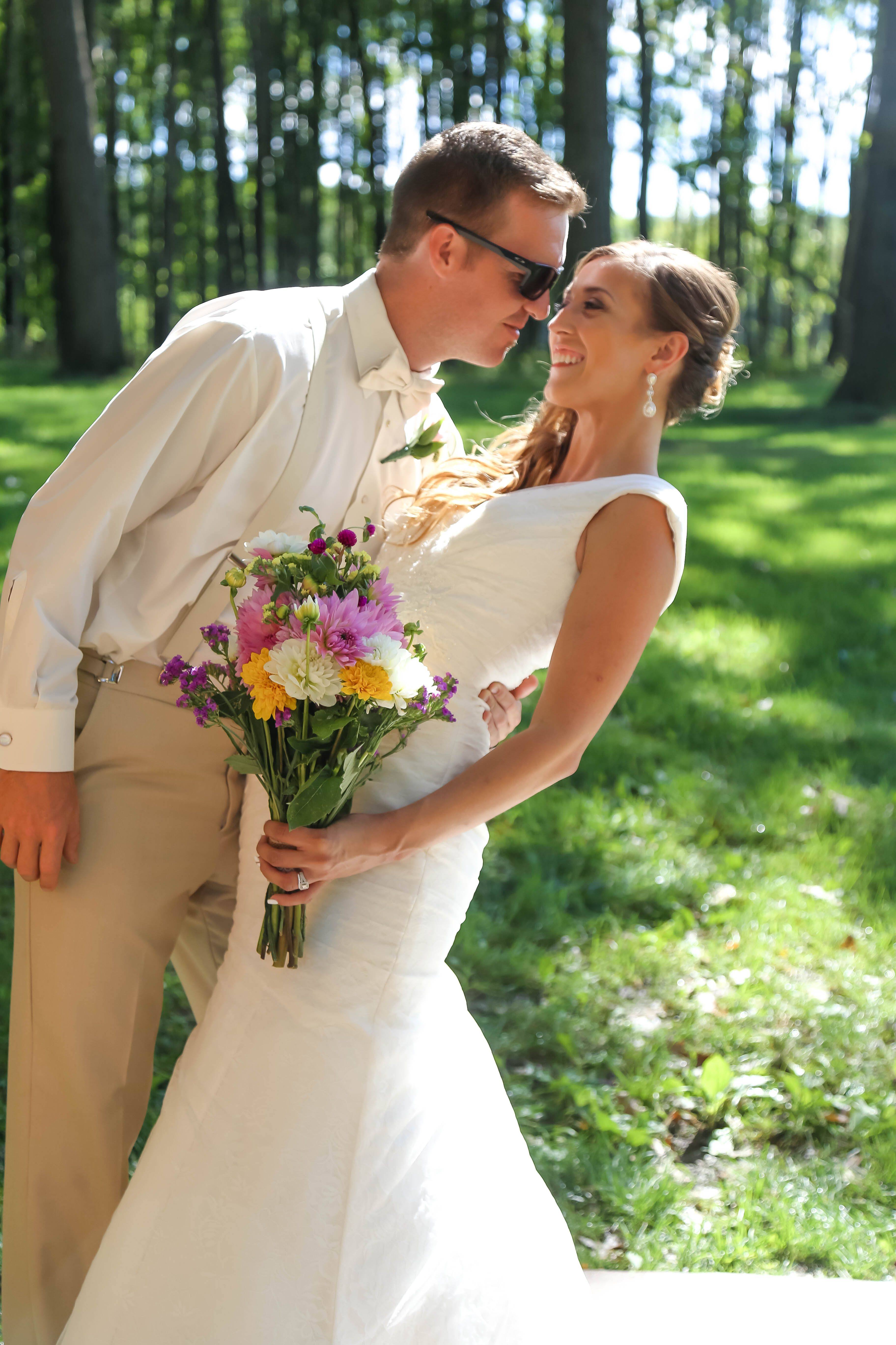 Love and sunshine captured in this couple picture   Dixon's wedding venue, Chippewa Valley, WI