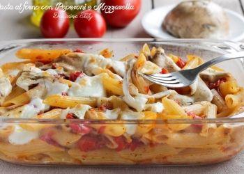 Pasta al Forno con Peperoni e Mozzarella affumicata