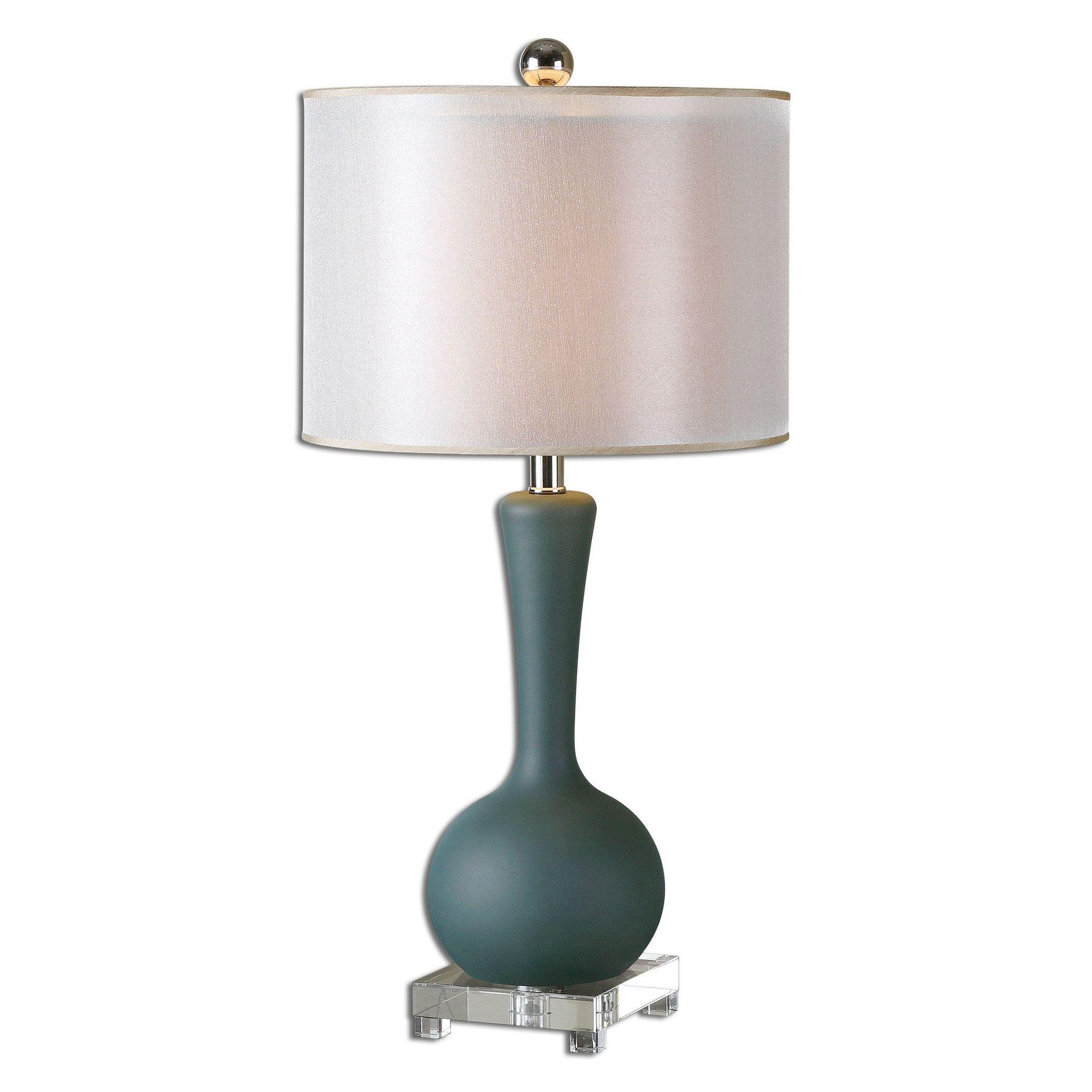 Denisa Slate Blue Table Lamp