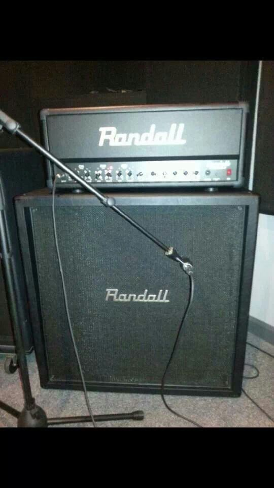 Randall half stack belonging to Kirk Windstein of Crowbar ... on