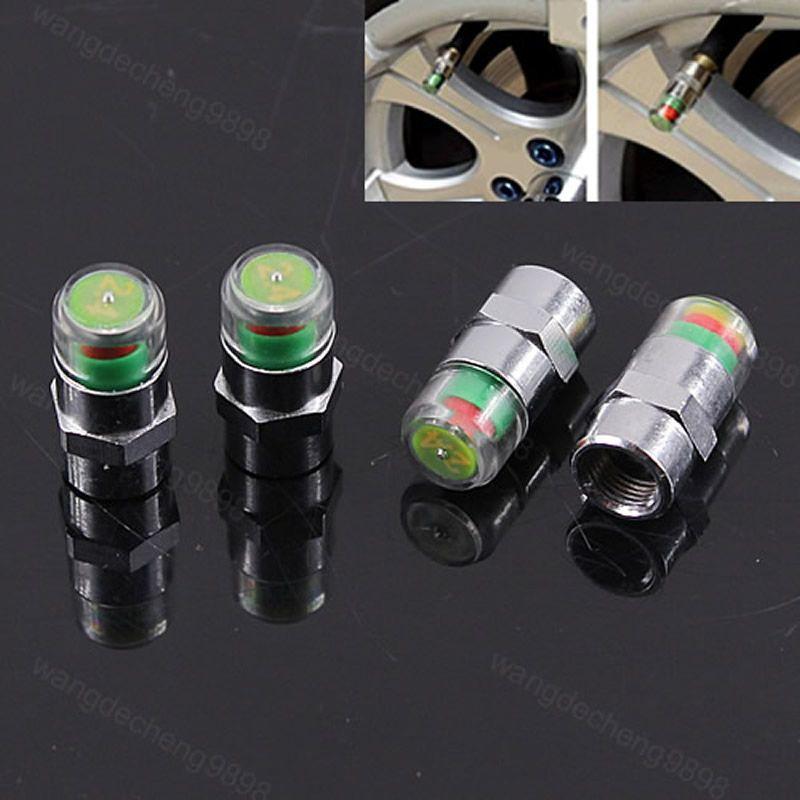4pcs car auto tire pressure monitor valve stem caps sensor
