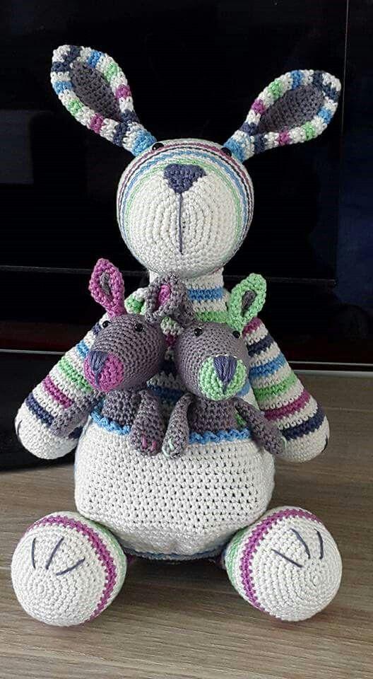 Pin de Karissa Slonka en Crochet | Pinterest | Canguro, Animales ...