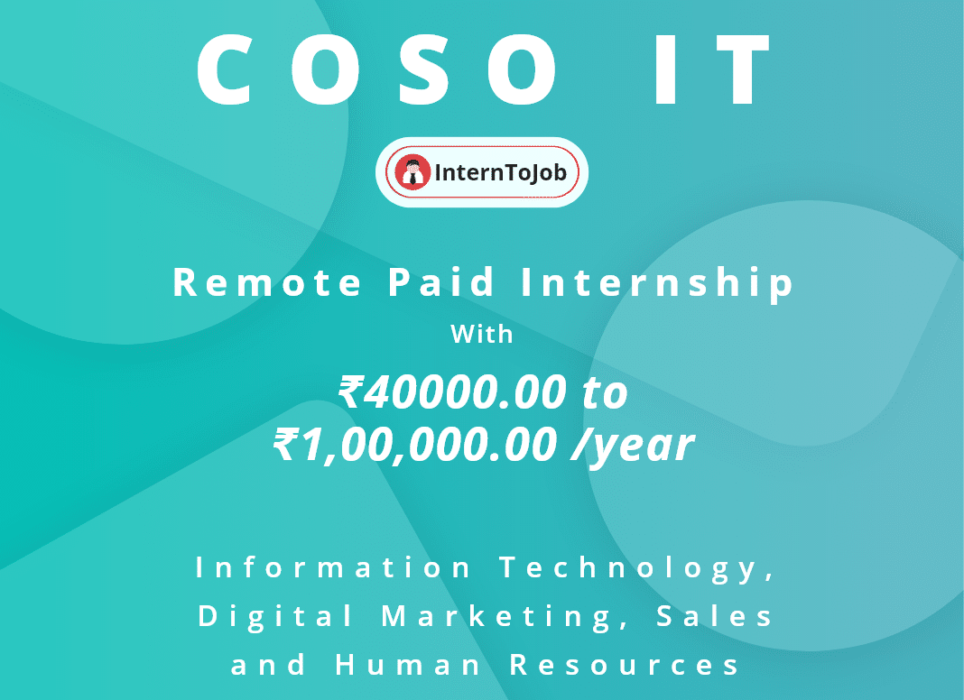 Remote Work Internships At Coso It Company Education Information Information Technology Humor Energy Technology