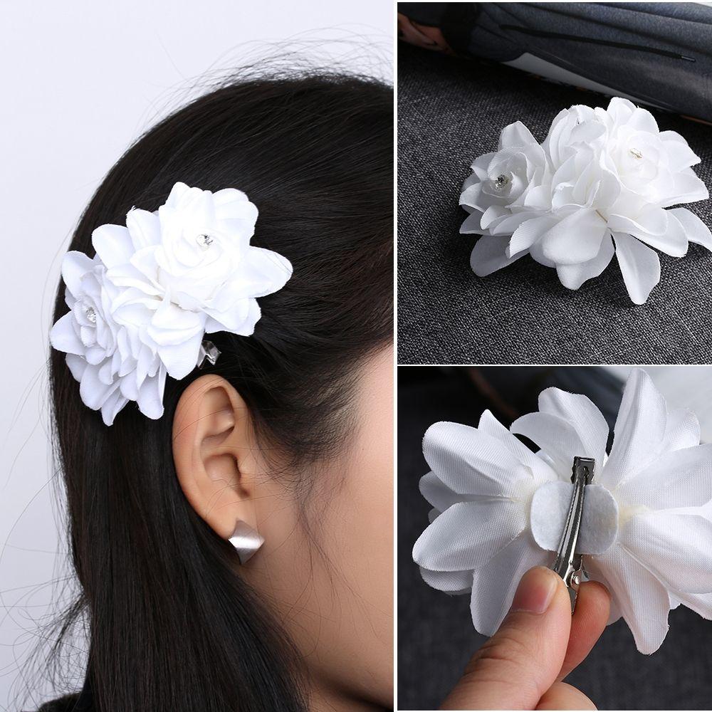 1 Pc Fashion Wedding Bridal Orchid Flower Wedding Hair Clip Barrette Women Hair Accessories Wedding Hair Clips Hair Accessories For Women Wedding Hair Flowers