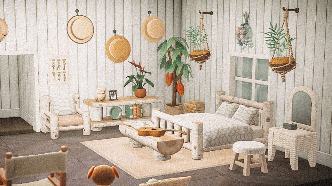 Acnh Bedroom Design Idea In 2020 Animal Crossing New Animal Crossing Animal Crossing Game