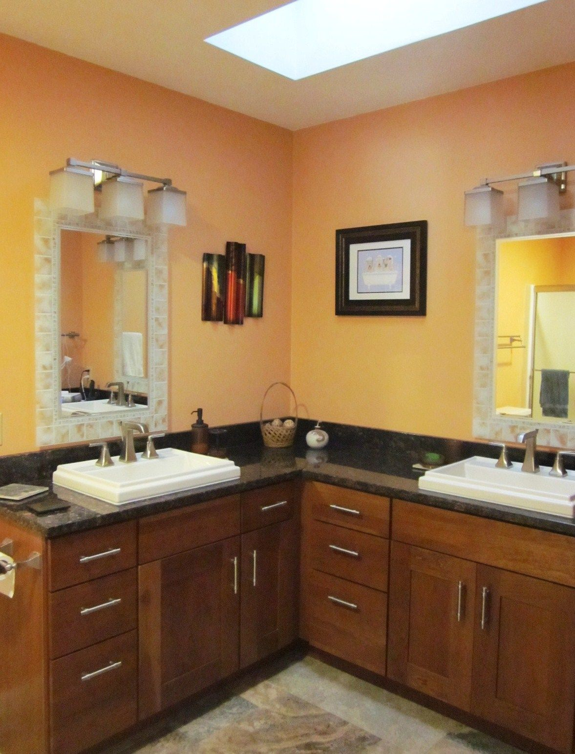 Decora cabinetry in Cherry, uba tuba granite tops and awesome ...