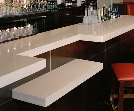 Zodiaq Bar In Snow White The White Adds A Very Clean Classy Look Countertops Decor Kitchens Bathrooms