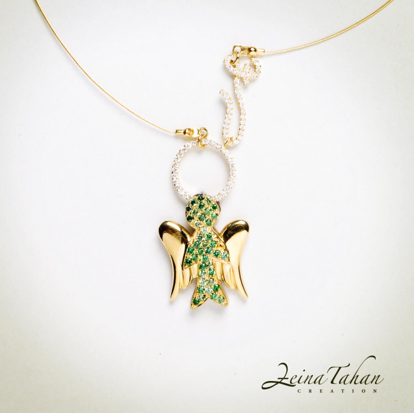 A Sweet Angel From Zeina Tahan Creation Must Looove To Wear It Jewelry Charm Bracelet Ear