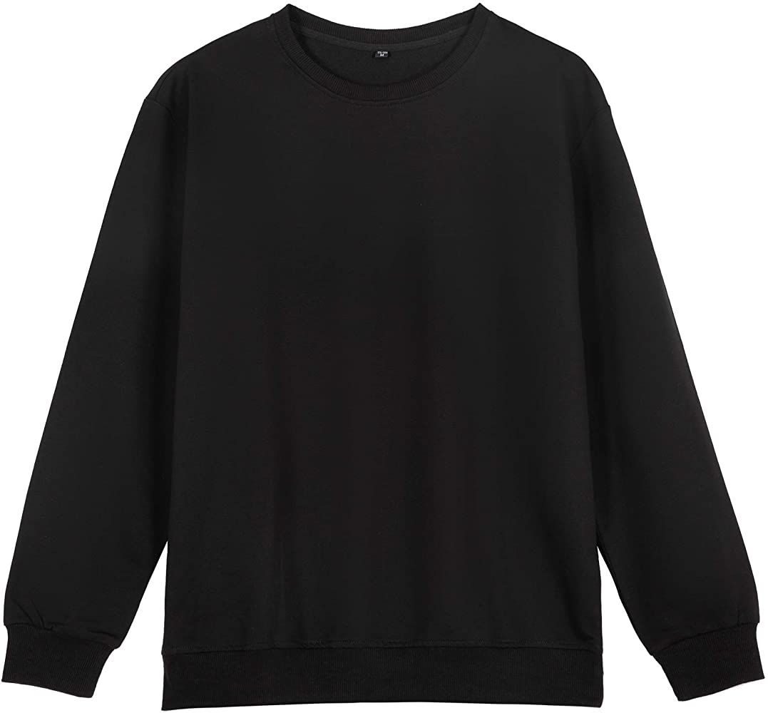 Minglin Crewneck Sweatshirts For Men Hoodless Fleece Black Xxxl At Amazon Men S Clothing Store Crew Neck Sweatshirt Casual Sweatshirt Casual Pullover [ 1000 x 1077 Pixel ]