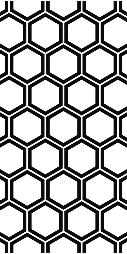 Repeat and black white hexagon pattern background #vector ...