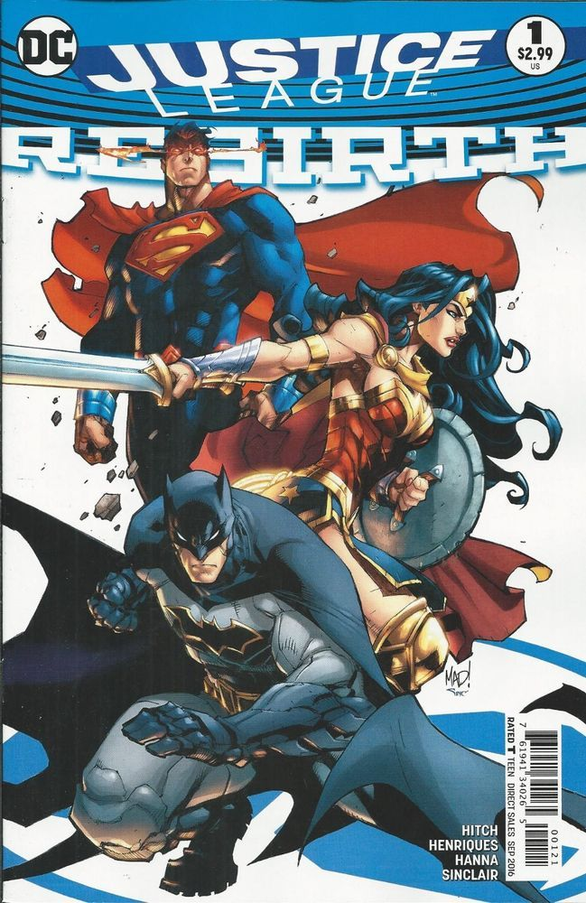 Dc Justice League Rebirth Comic Issue 1 Limited Variant Dc Comics Art Dc Rebirth Dc Trinity