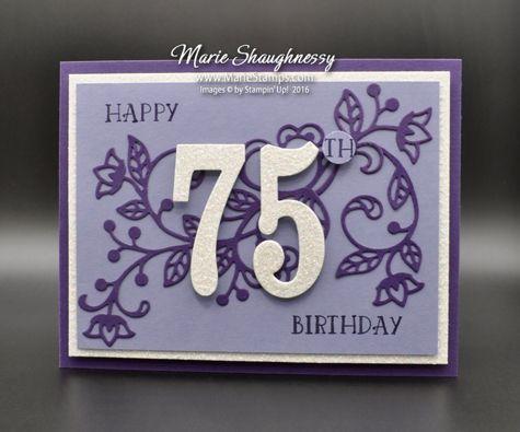 Mom S Flourishing 75th Birthday Card 65th Birthday Cards Birthday Cards For Friends Birthday Cards For Women