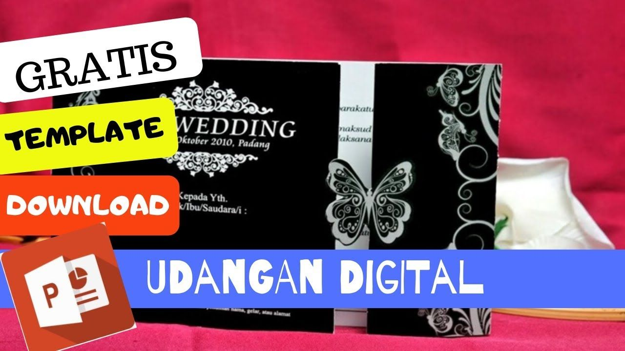Download Undangan Digital Ppt Free Edit Pakai Power Point Ud01 Undangan Undangan Pernikahan Video