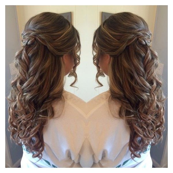 Half up half down prom hair liked on Polyvore featuring ...