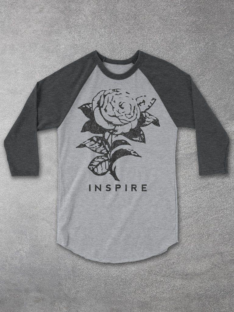 dec03eb4 Inspire Vintage Rose Baseball Tee – Hello Floyd   Tees   Raglan ...