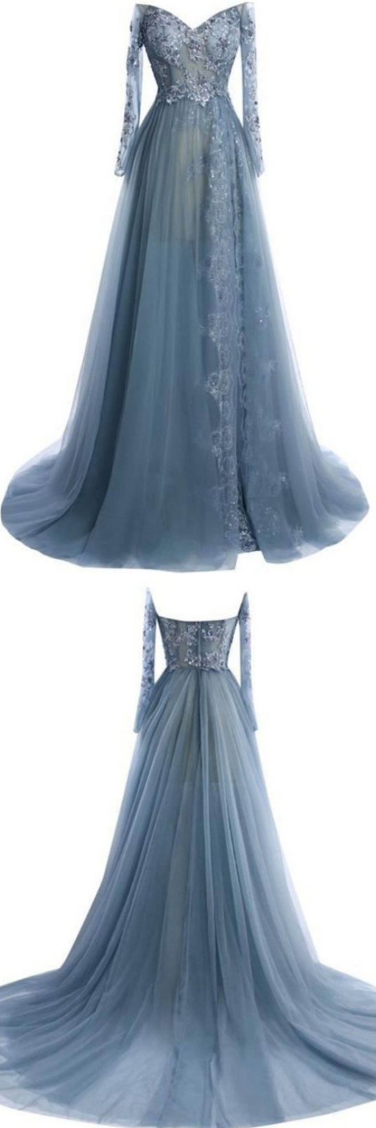 Princess prom dresses grey evening dresses long prom dresses with
