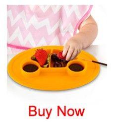 Qshare chico Placa de silicona Antis chico alimentación vajilla bebé contenedor de alimentos de bebé juego de vajilla de platos niños cuencos mantel