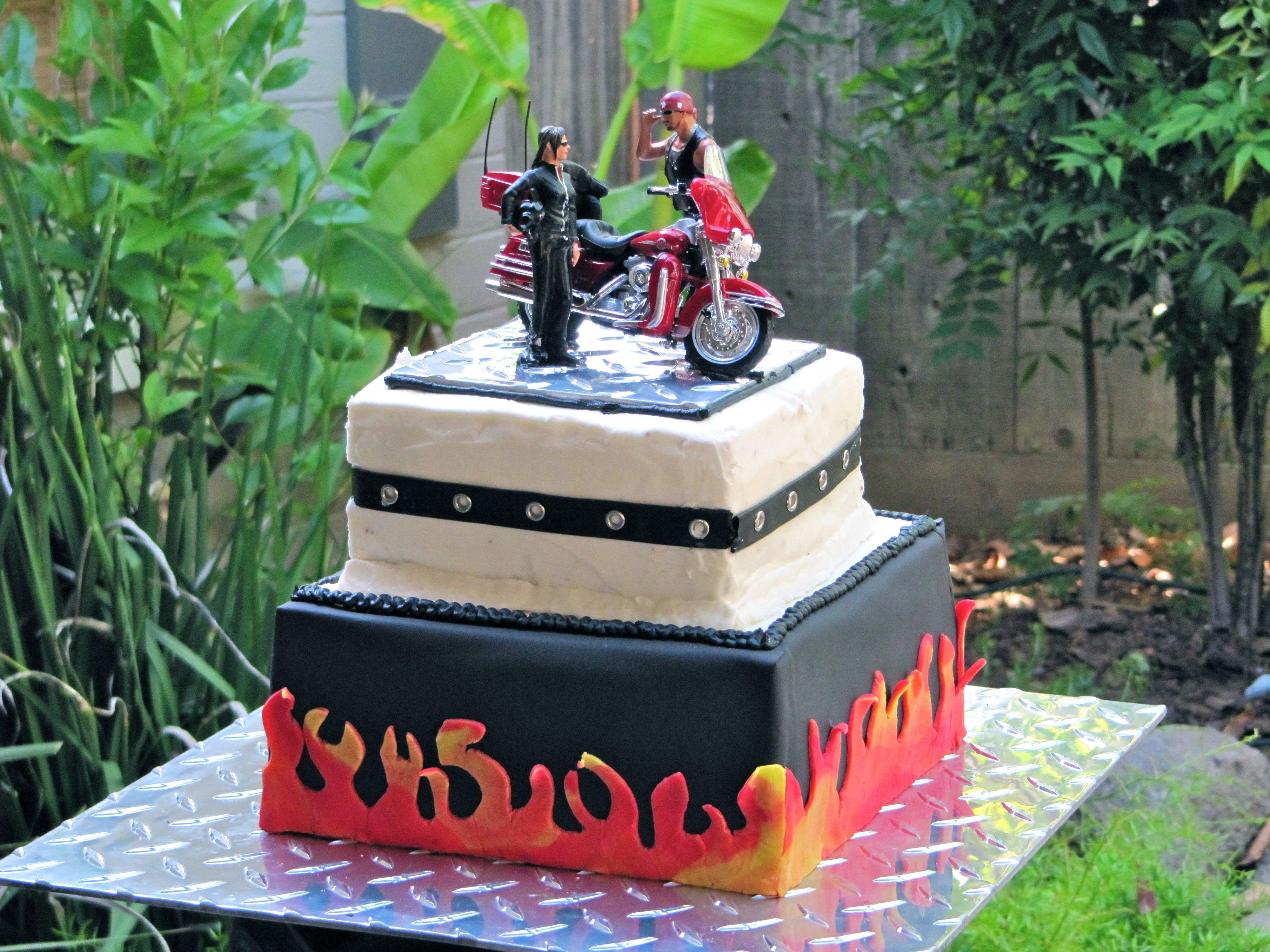 Wedding cake for my bikercousin and her bikerman