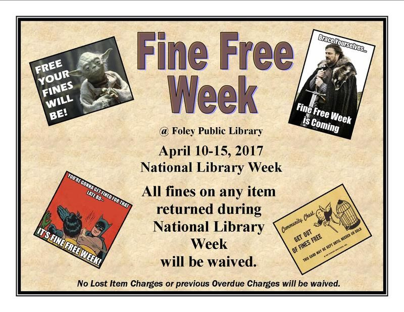 Foley Public Library Library week, Public library, Library