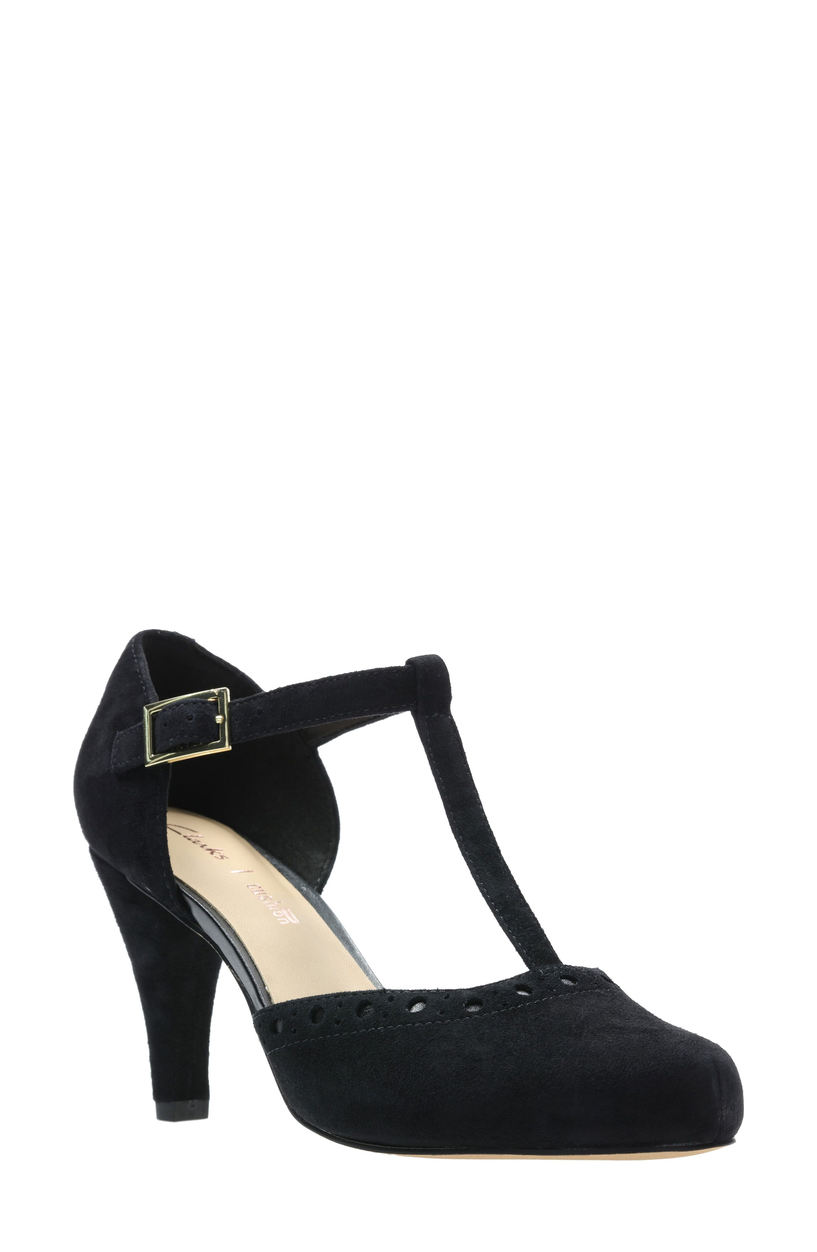 humedad invadir Implacable  Women's Clarks Dalia Leah Pump, Size 6.5 M - Black in 2019 | Products |  Shoes, Vintage style shoes, Heels