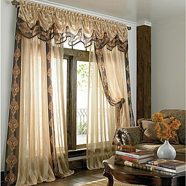Awesome American Living Forenza Rod Pocket Print Sheer Panel   Jcpenney. My Bedroom  Curtains