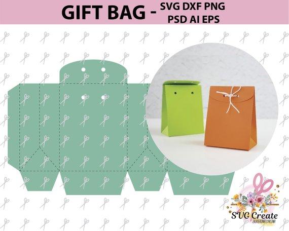 paper bag template favor box printable gift diy papercut rh pinterest com