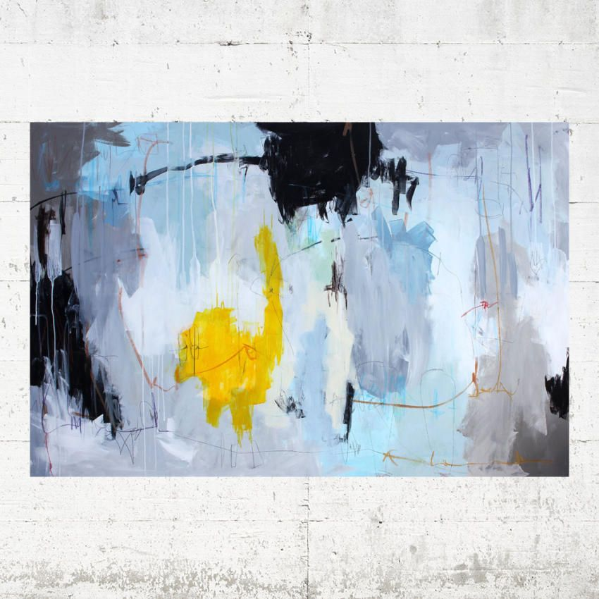 Artist Bettina Holst Abstract Painting 100x150 Abstrakte Malerier Maling Abstract Painting