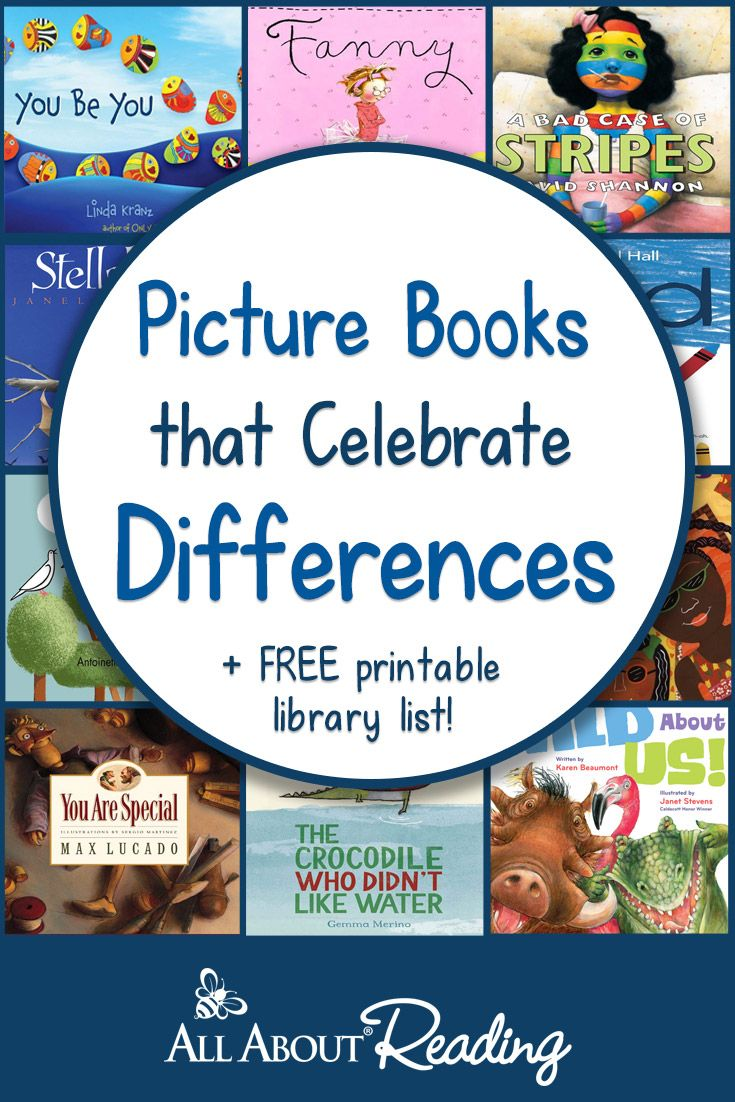 Picture Books that Celebrate Differences + FREE