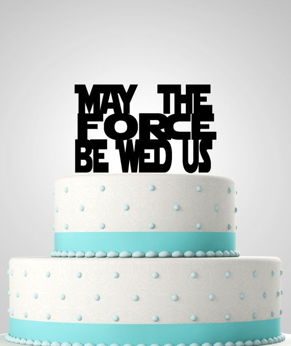 Star wars inspired wedding cake topper may the force be wed us star wars inspired wedding cake topper may the force be wed us star wars junglespirit Gallery
