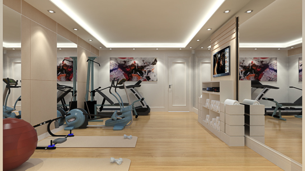 Sketchup Fitness Room 3d Model Workout Rooms 3d Model Room