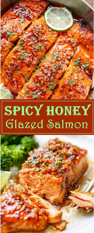 Photo of Spicy Honey Glazed Salmon Recipe