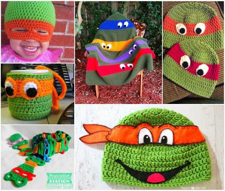 Ninja Crochet Pattern Free Tutorials and Great Ideas | Mütze häkeln ...