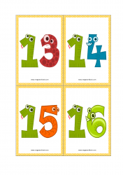 Number Flashcards Number Flashcards Printable 1 10 1 20