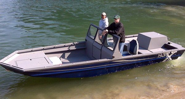 Shallow water aluminium jet boat shallow water for Shallow water fishing boats