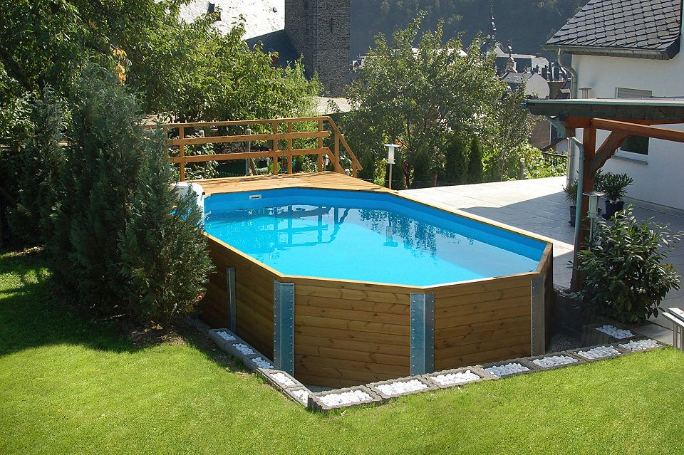 Weka Set Achteck-Holzpool »Mali 4« Swimming pools - holzpool selber bauen