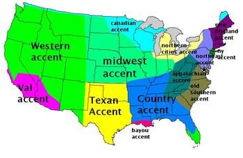 united states accent map This is a map of different accents in the United States. It is