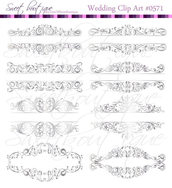 SILVER Digital Frames Ornate Retro Vintage by MSweetboutique, $5.99