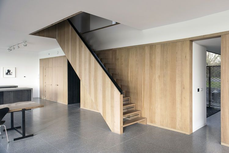 custom oak joinery in a house in england inspiring stairs entries