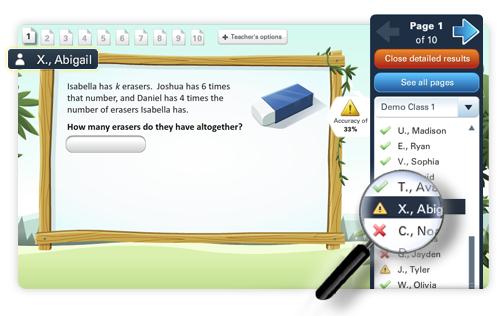 Buzzmath -- A middle school math online practice platform to